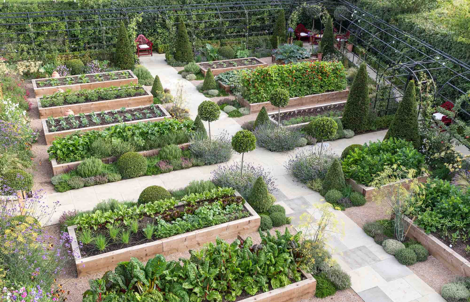 Kitchen garden garden design landscaping project for Garden design and landscaping