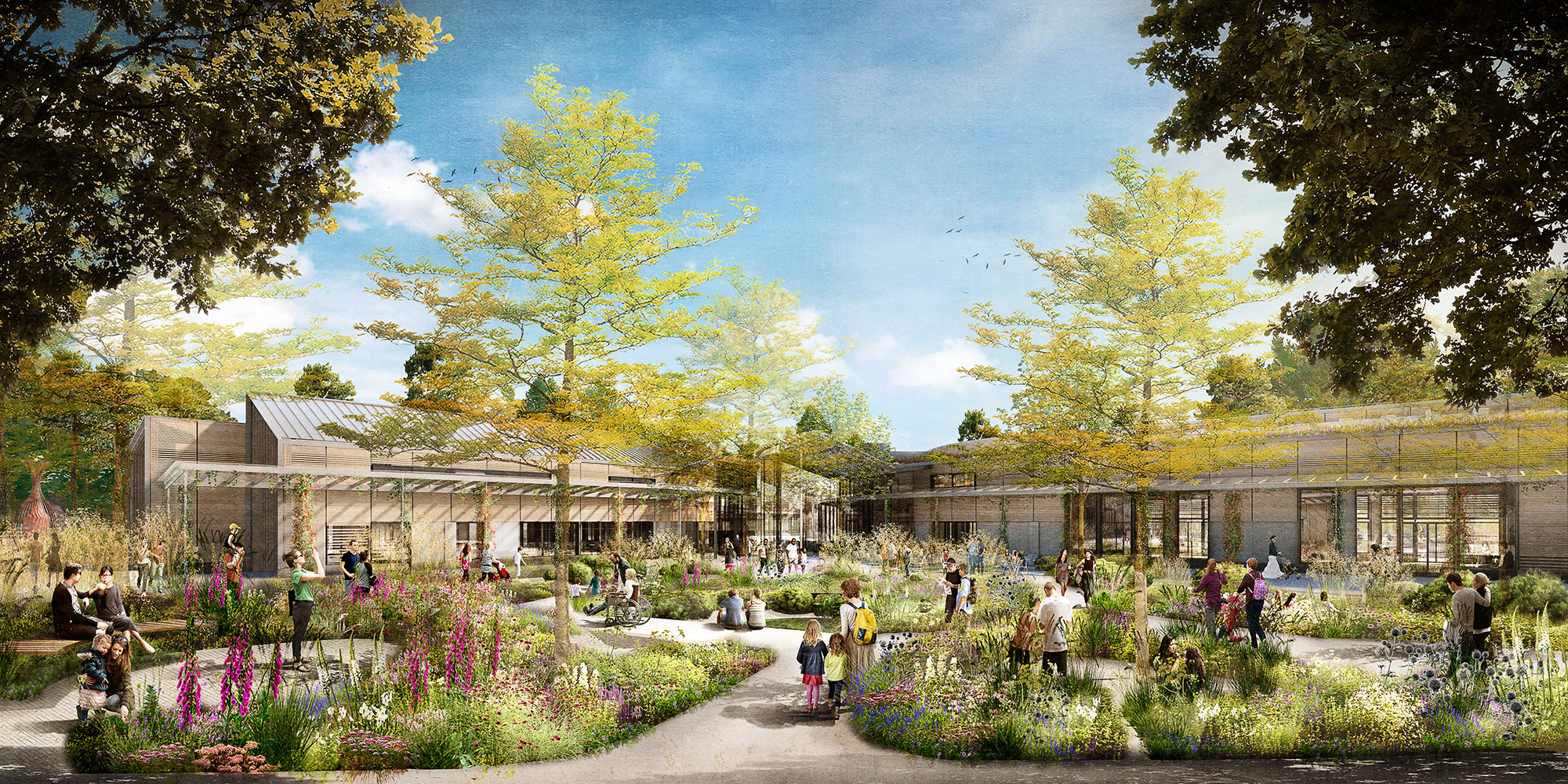 Matt Keightley Has Revealed His Design For The New Wellbeing Garden Which  Will Sit Around The New National Centre For Horticultural Science And  Learning On ...